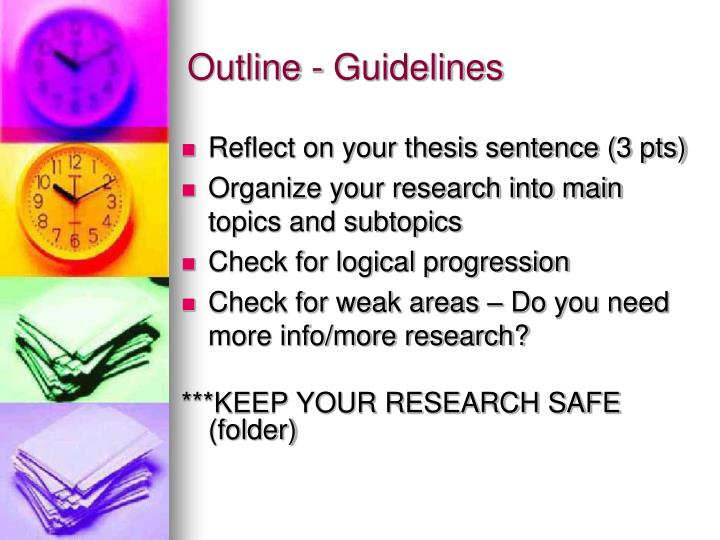 Outline - Guidelines