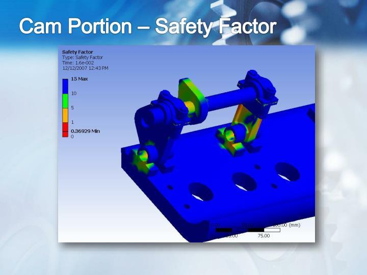 Cam Portion – Safety Factor