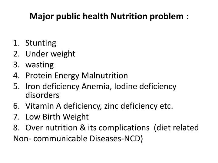 Major public health Nutrition problem