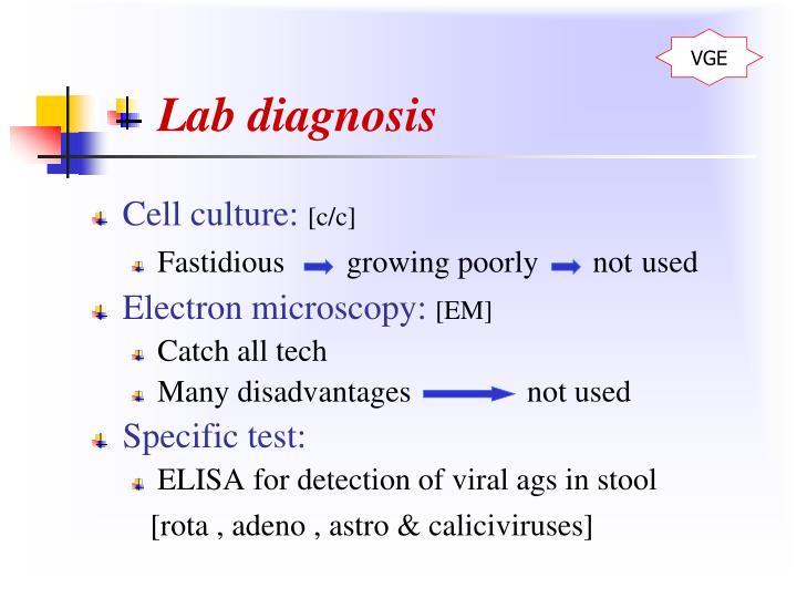 Lab diagnosis