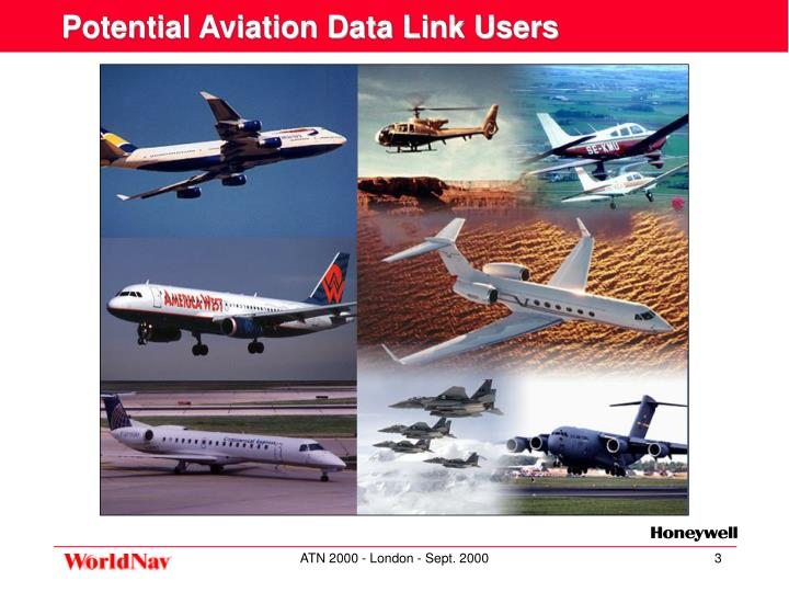Potential aviation data link users
