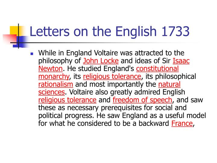 Letters on the English 1733