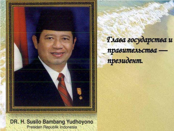 Глава государства и правительства — президент.