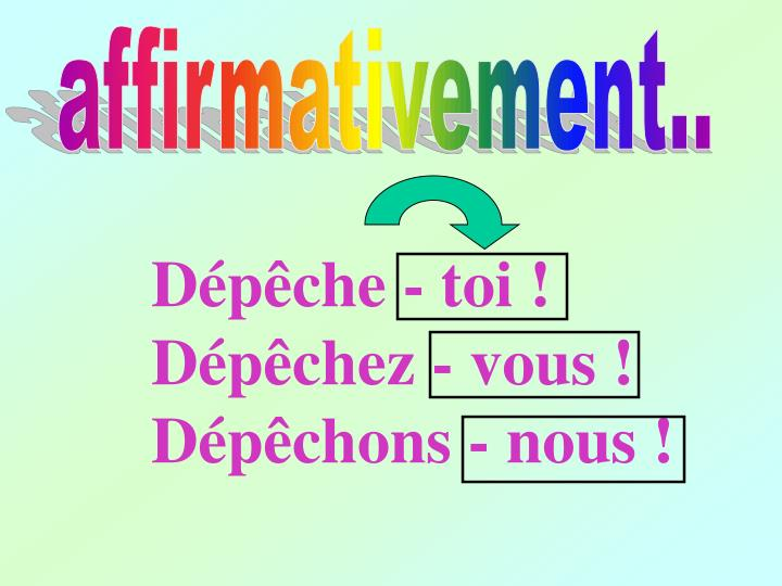 affirmativement..