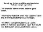 genetic and environmental effects on quantitative traits an example explanation