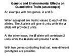 genetic and environmental effects on quantitative traits an example