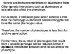 genetic and environmental effects on quantitative traits2
