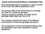 genetic and environmental effects on quantitative traits4