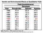 genetic and environmental effects on quantitative traits6