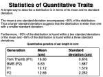 statistics of quantitative traits4