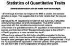statistics of quantitative traits5