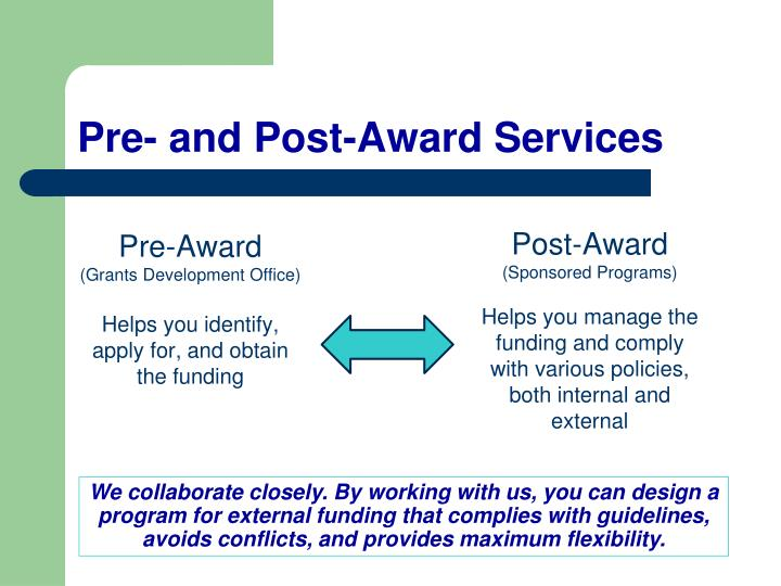 Pre- and Post-Award Services
