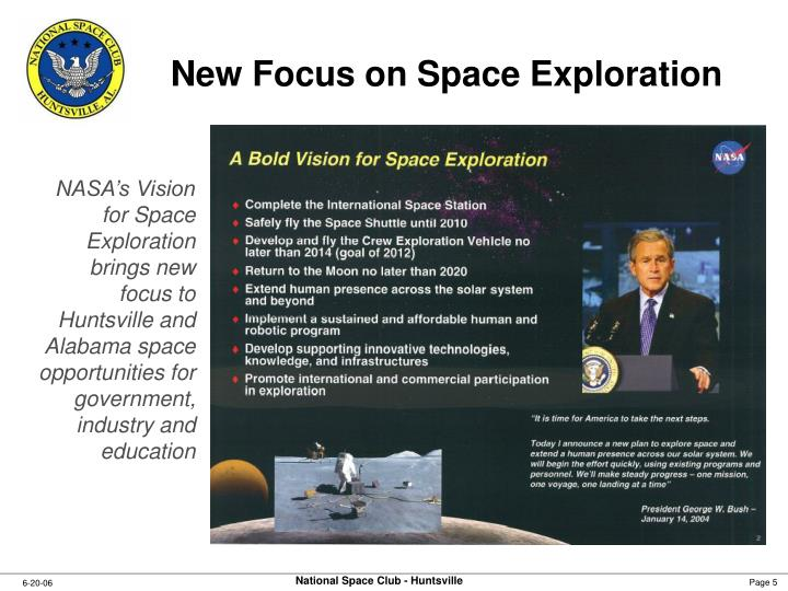 New Focus on Space Exploration