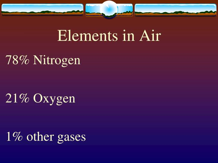 Elements in Air