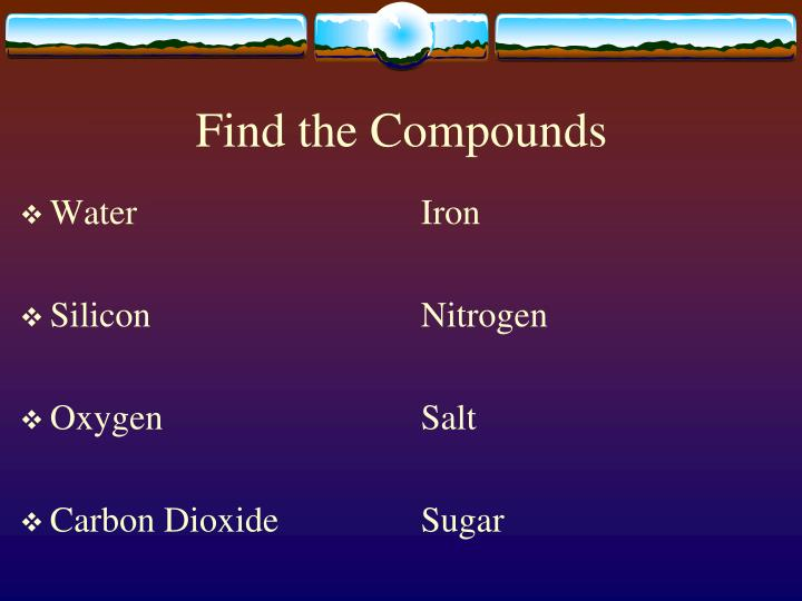 Find the Compounds