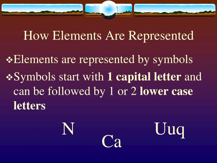 How Elements Are Represented