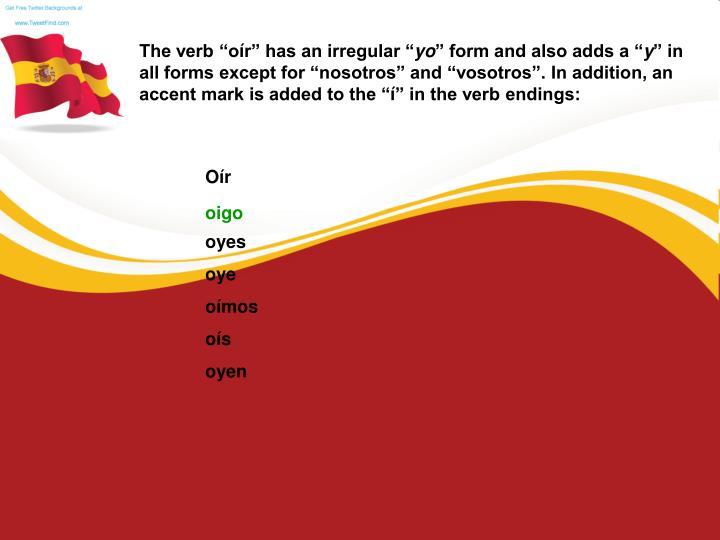 """The verb """"o"""