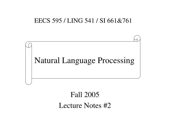 Fall 2005 lecture notes 2