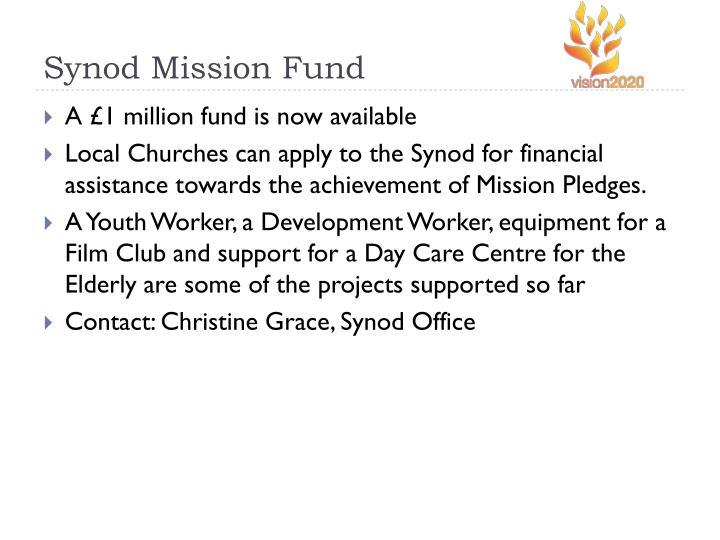 Synod Mission Fund