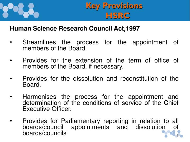 Human Science Research Council Act,1997