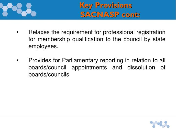 Relaxes the requirement for professional registration for membership qualification to the council by state employees.