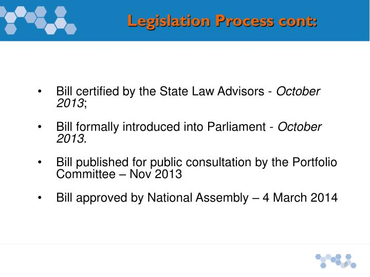 Bill certified by the State Law Advisors -