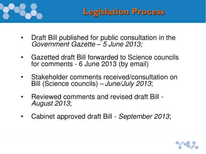 Draft Bill published for public consultation in the