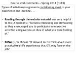 course eval comments spring 2011 n 13