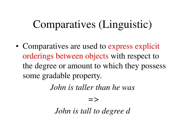 Comparatives (Linguistic)