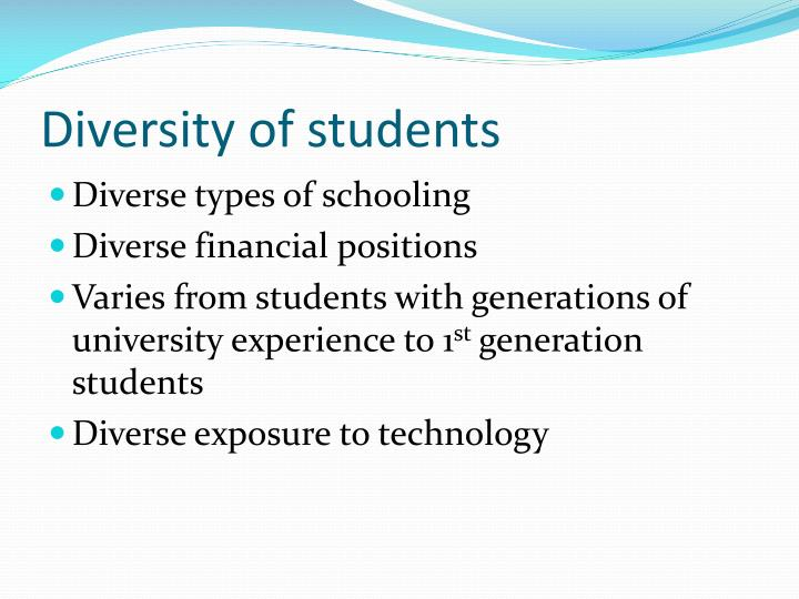 Diversity of students