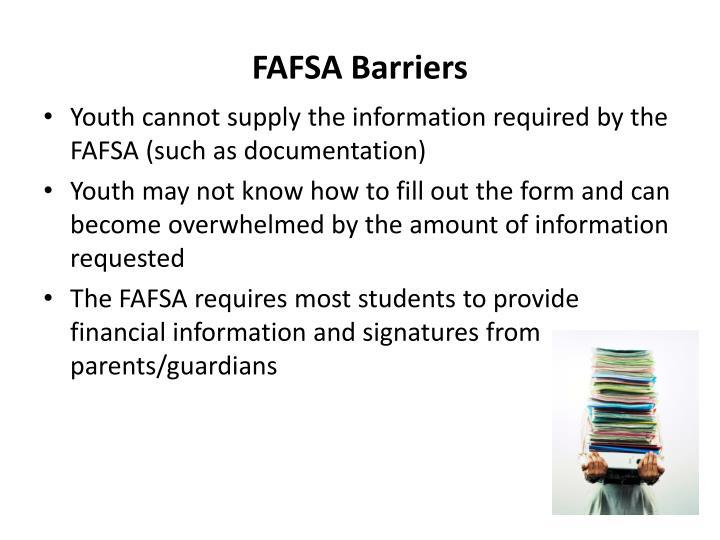 FAFSA Barriers
