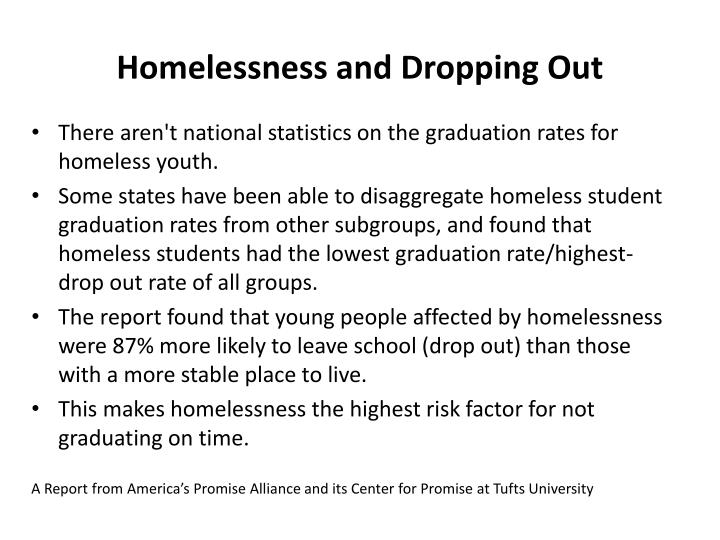 Homelessness and Dropping Out