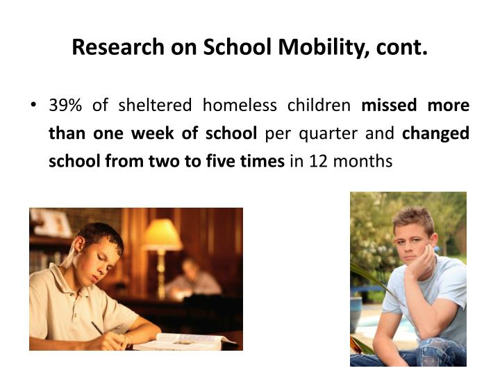 Research on School Mobility, cont.