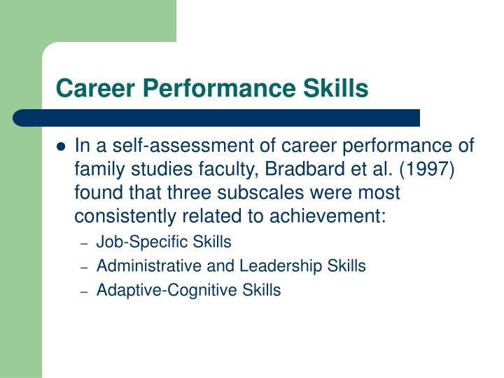 Career Performance Skills