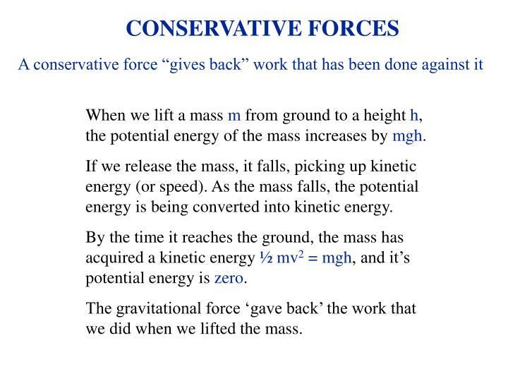Conservative forces1