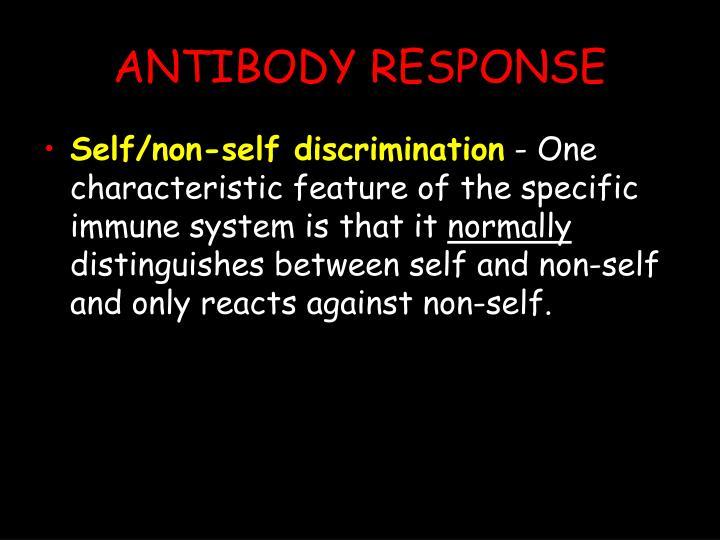 ANTIBODY RESPONSE