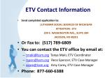 etv contact information