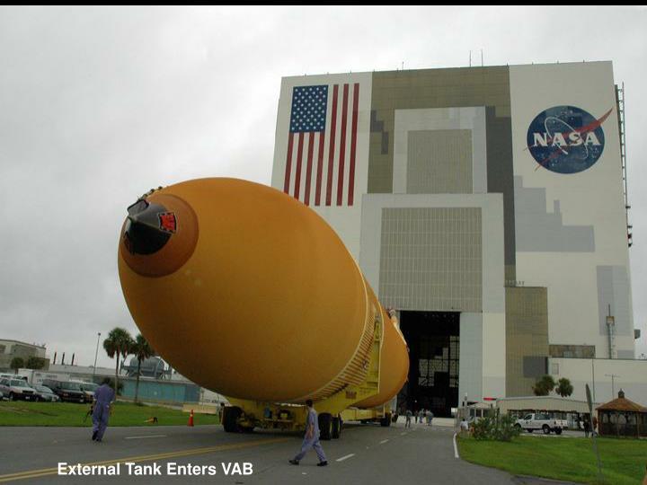 External Tank Enters VAB
