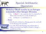 special arithmetic operators1