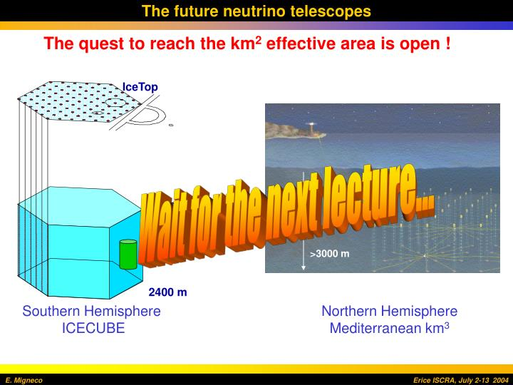 The future neutrino telescopes