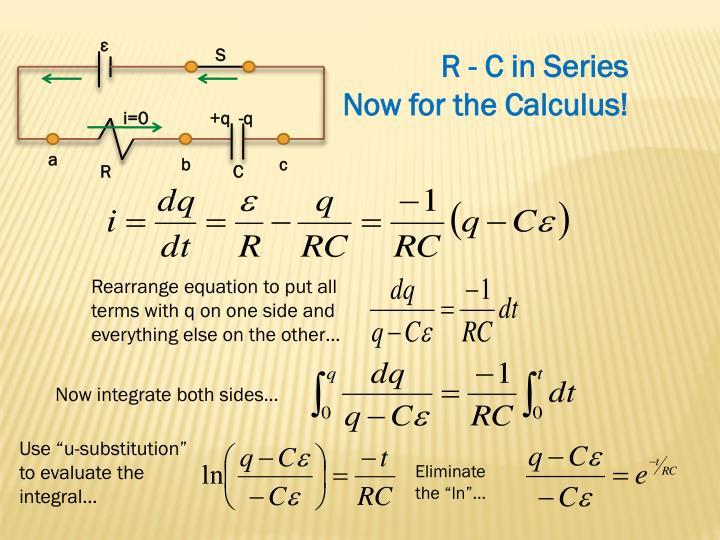 R - C in Series