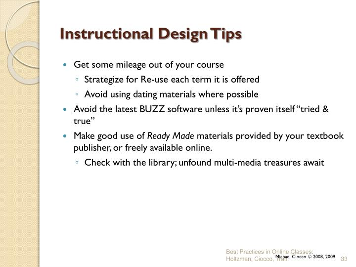 Instructional Design Tips