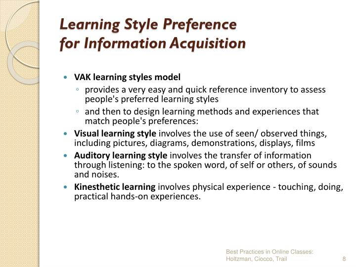 Learning Style Preference