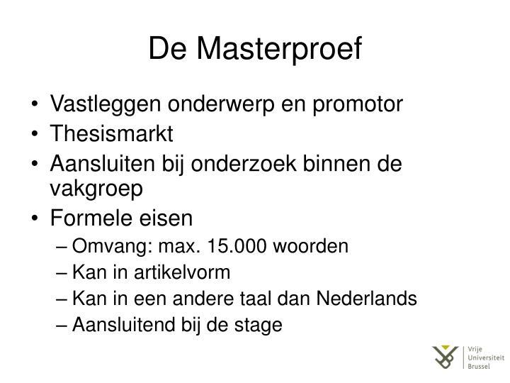De Masterproef