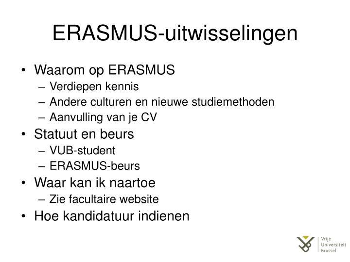 ERASMUS-uitwisselingen
