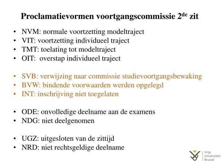 Proclamatievormen voortgangscommissie 2