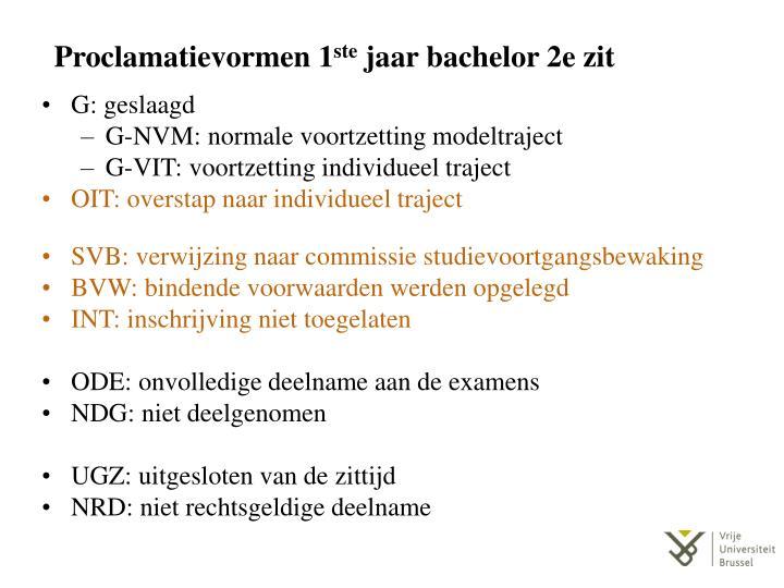 Proclamatievormen 1
