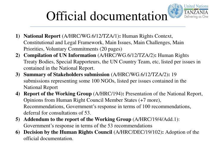 Official documentation