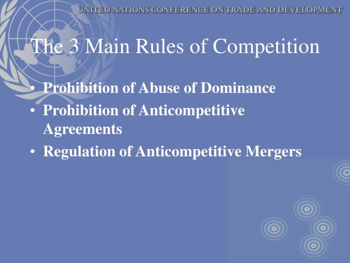 The 3 Main Rules of Competition