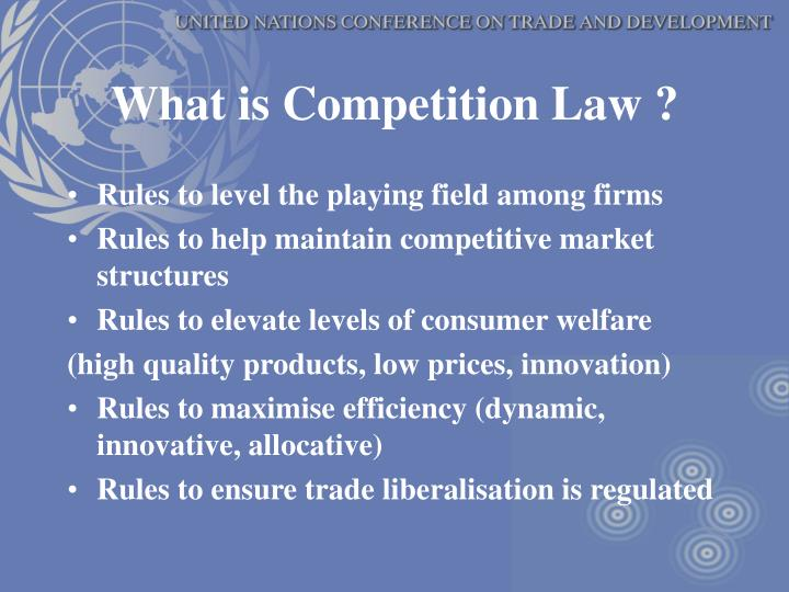 What is competition law
